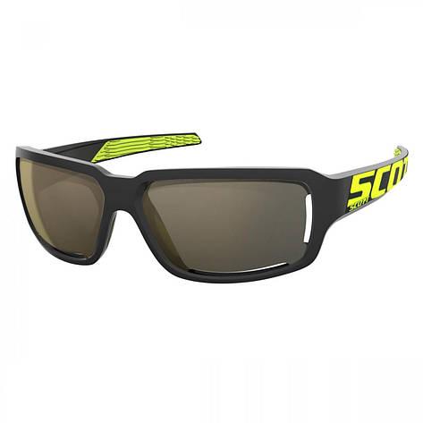 Спортивні окуляри SCOTT OBSESS ACS чорний / неоновий жовтий золотий хром, фото 2