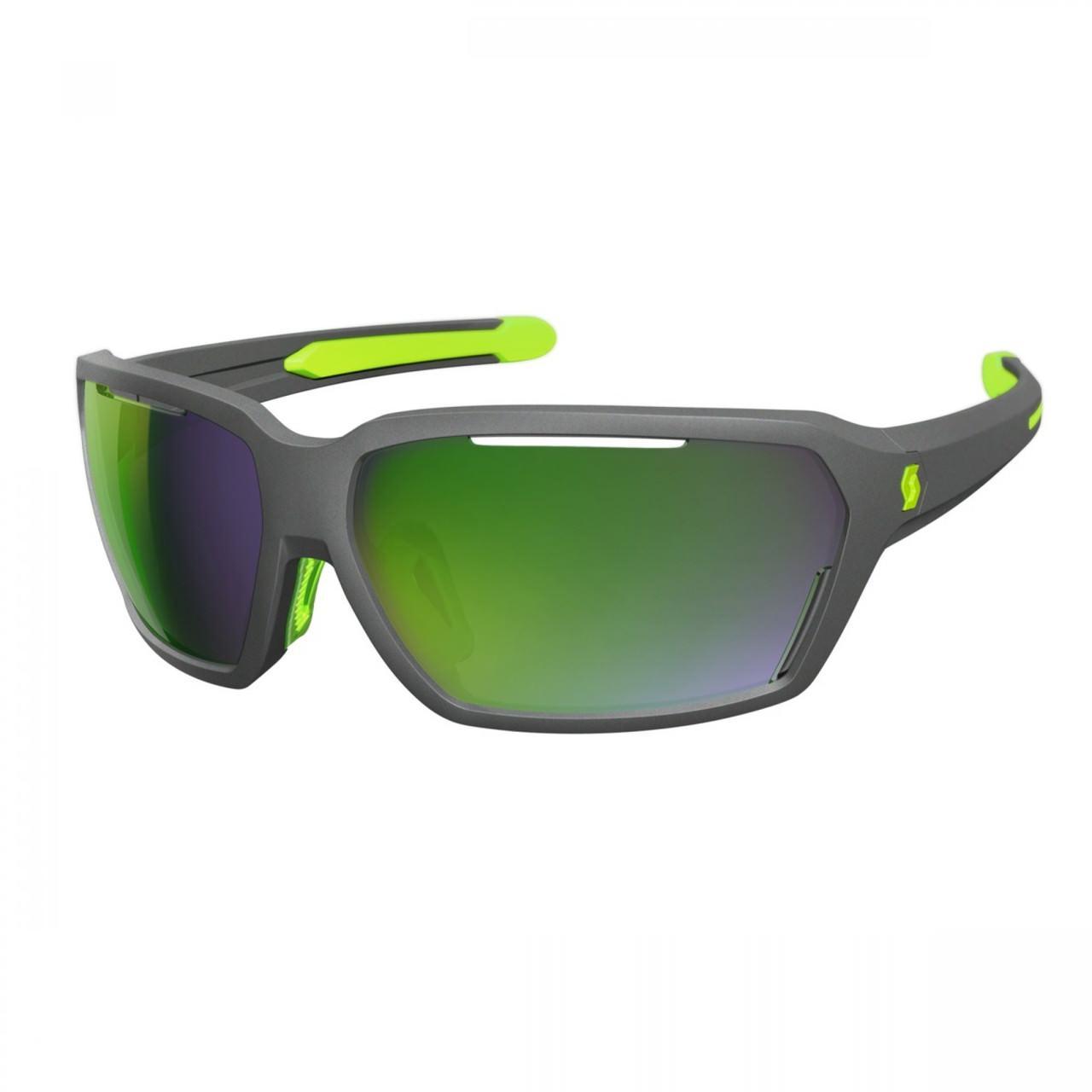 Спортивные очки SCOTT VECTOR серый матовый /зеленый хром