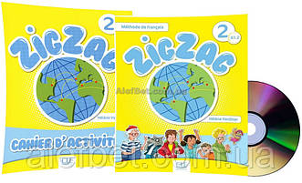 Французский язык / ZigZag / Livre+Cahier Activites. Учебник+Тетрадь (комплект), 2 / CLE International