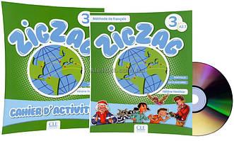 Французский язык / ZigZag / Livre+Cahier Activites. Учебник+Тетрадь (комплект), 3 / CLE International