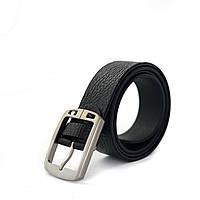 Джинсовый кожаный мужской ремень черного цвета опт, фото 1