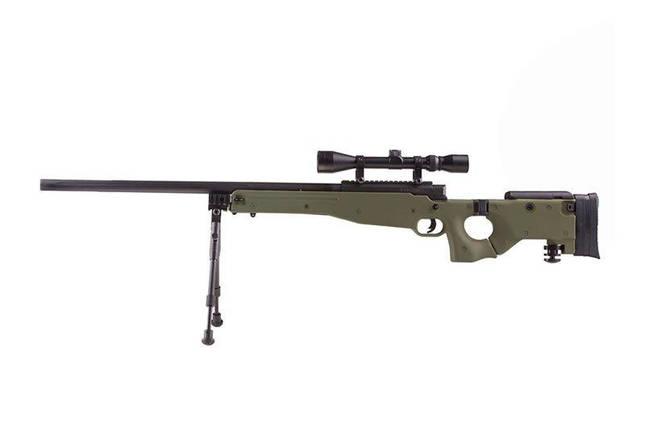 Страйкбольная винтовка снайперская MB08D - с оптикой и сошками - olive [WELL] (для страйкбола), фото 2