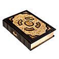 Біблія в шкіряній палітурці з позолоченою іконою (М2), фото 2