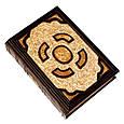 Біблія в шкіряній палітурці з позолоченою іконою (М2), фото 4
