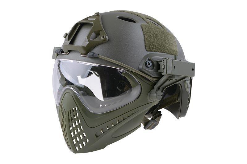 Реплика шлема FAST PJ Piloteer - olive [Ultimate Tactical] (для страйкбола)