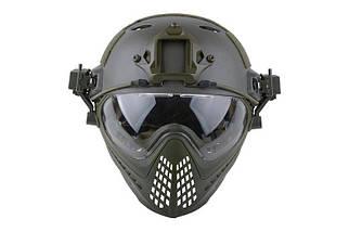 Реплика шлема FAST PJ Piloteer - olive [Ultimate Tactical] (для страйкбола), фото 2
