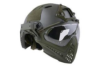 Реплика шлема FAST PJ Piloteer - olive [Ultimate Tactical] (для страйкбола), фото 3