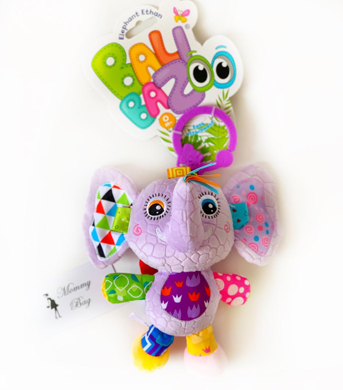 Музыкальная игрушка-подвеска Слоненок Итан Balibazoo (Высота 20 см)