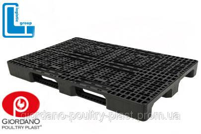 Поддон пластиковый 1200х800х160 мм, пластиковая паллета