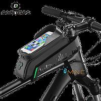 """Велосипедная сумка на раму ROCKBROS 029BK для смартфонов до 6"""""""