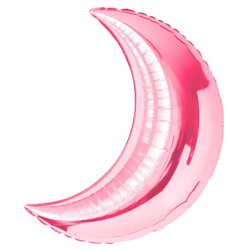 "Фол шар 28"" (71 см) Месяц Металлик розовый (Китай)"
