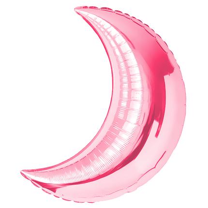 "Фол шар 28"" (71 см) Месяц Металлик розовый (Китай), фото 2"