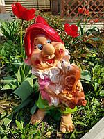 Садовая фигура: гномик с собачкой, фото 1