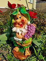 Садовая фигура: гномик с виноградом, фото 1