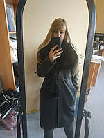 Пальто с воротником из меха песца, фото 1