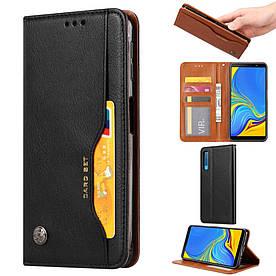 Чехол книжка для Samsung Galaxy A50 A505FD боковой с отсеком для визиток, ORIGINAL, черный