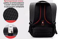 РЮКЗАК ГОРОДСКОЙ TIGERNU T-B3130 ЧЕРНЫЙ + Замок в подарок, фото 6