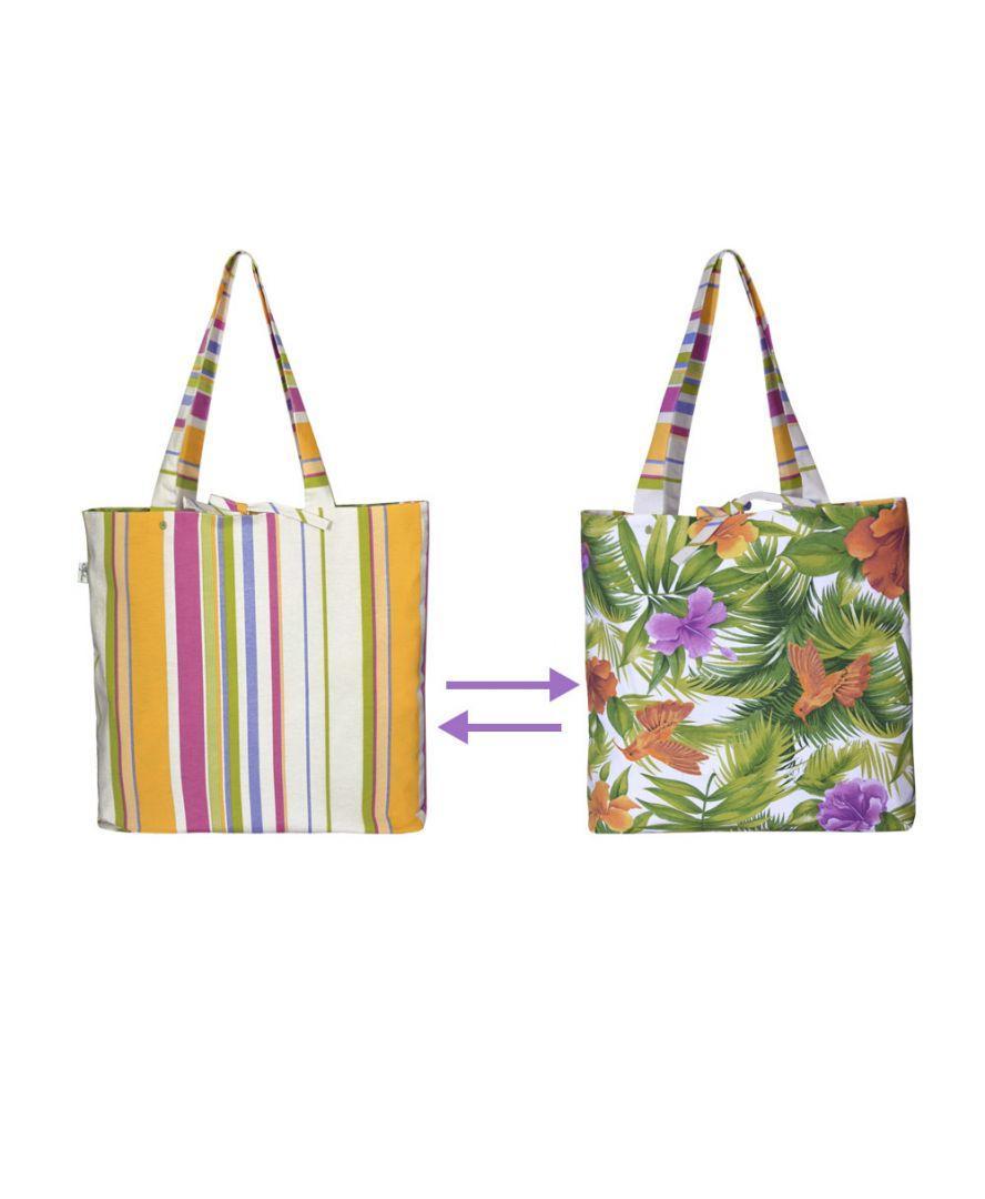 Пляжная двусторонняя сумка Kolibry&Stripe