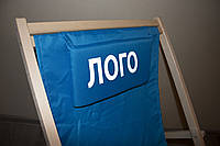 Подушка  брендированная для шезлонга с полноцветной печатью логотипа