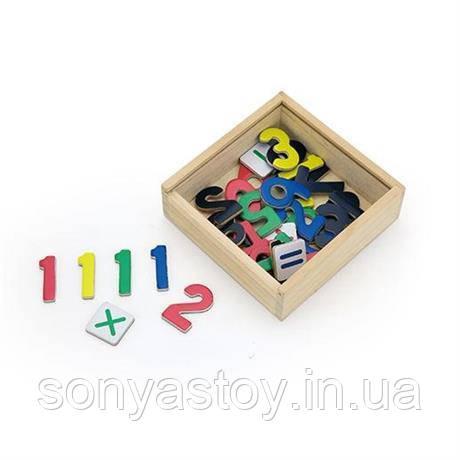 Набір магнітних цифр і знаків Цифри, 37 шт, 3+