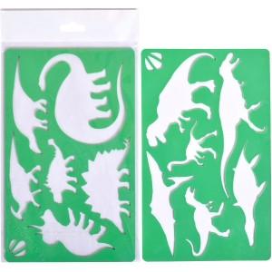 Набор из 2-х трафаретов «Мир динозавров»