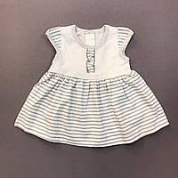 Платье для девочки р.68 (3-6 мес) летнее хлопковое