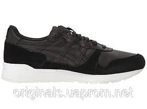 Кроссовки Asics GEL-Lyte мужские в черном цвете кожаные, фото 3