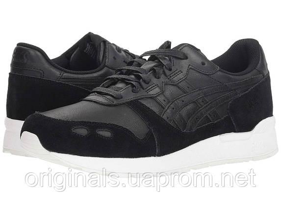 Кроссовки Asics GEL-Lyte мужские в черном цвете кожаные, фото 2
