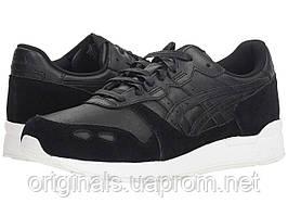 Кроссовки Asics GEL-Lyte мужские в черном цвете кожаные