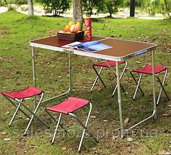 Стол туристический TOURIST table 4 набор для пикника и 4 стула