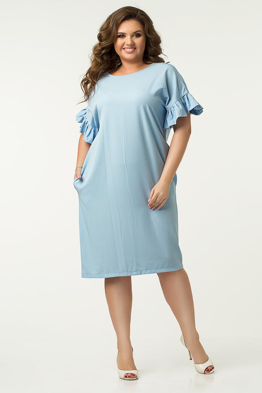 Платье Lilove №43562 48-50 голубой