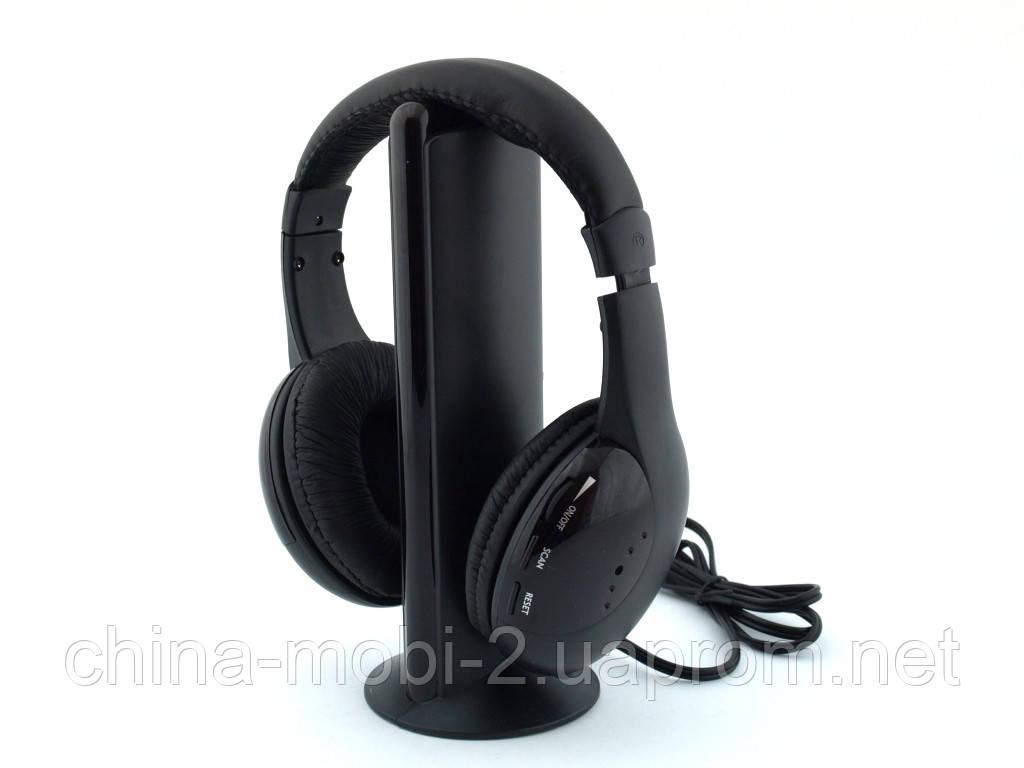 MH2001 S-xbs 5in1 wireless headphone, беспроводные радио наушники для TV с FM