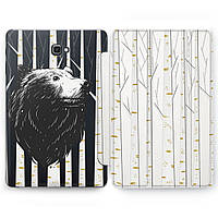 Чехол книжка, обложка для Samsung Galaxy Tab (Медведь в роще) планшеты A8 9.7 E9.6 8.0 S4 S3 S2 A10.5 A10.1