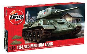 Cоветский средний танк T34/85. Сборная модель танка в масштабе 1/76. AIRFIX 01316