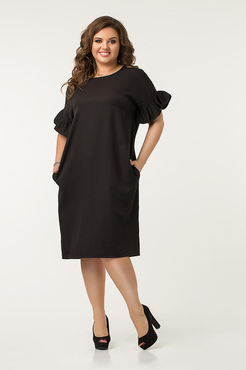 Платье Lilove №43562 56-58 черный