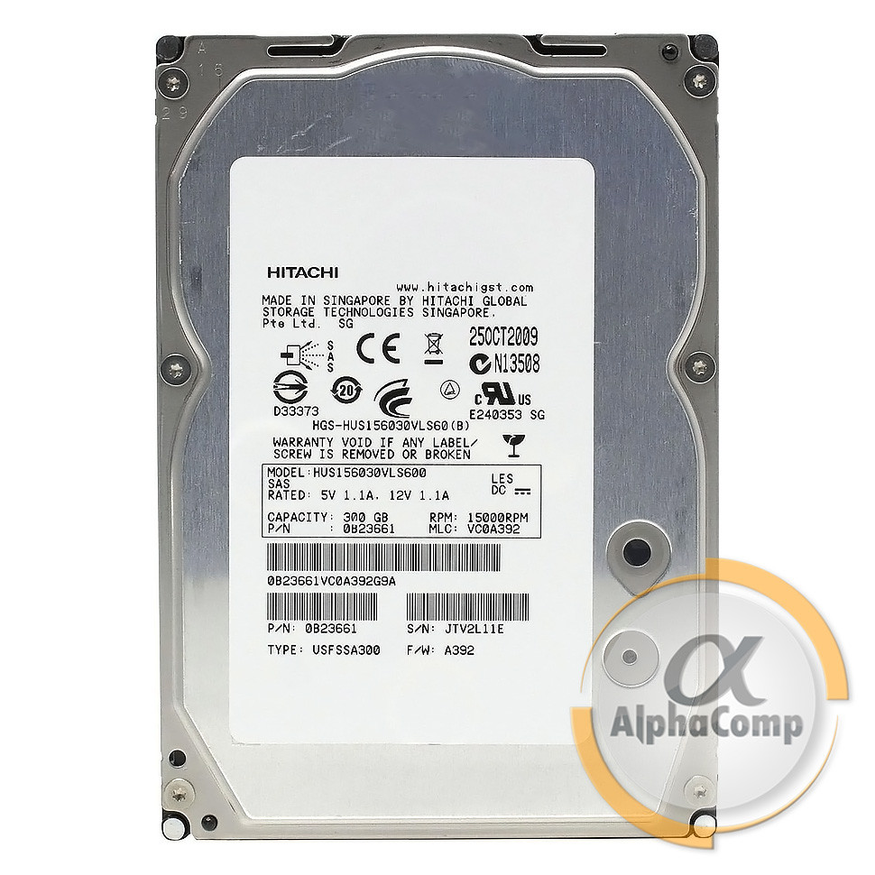 """Жесткий диск 3.5"""" 300Gb Hitachi 15K HUS156030VLS600 (SAS) БУ"""