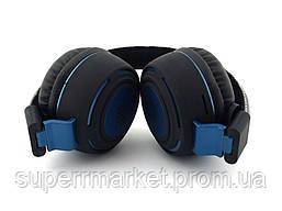 JBL AZ-11 Base on Discovery wireless headphones копия, Bluetooth MP3 наушники с FM, черные с синим, фото 2