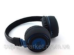 JBL AZ-11 Base on Discovery wireless headphones копия, Bluetooth MP3 наушники с FM, черные с синим, фото 3