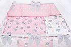 Комплект постельного белья Asik Спящие слоники на облаках розового цвета 7 предметов (7-325), фото 4