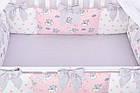Комплект постільної білизни Asik Сплячі слоники на хмарах рожевого кольору 7 предметів (7-325), фото 7