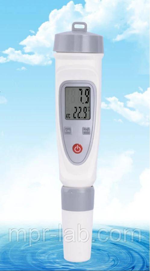 Влагозащищённый рН - метр  РН-20 с термометром, сменным электродом, АТС (0,1рН)