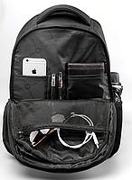 РЮКЗАК ГОРОДСКОЙ TIGERNU T-B3105 USB ЧЕРНЫЙ С СИНИМ + замок в подарок, фото 3