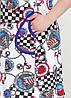 Женский хлопковый халат на молнии, фото 3