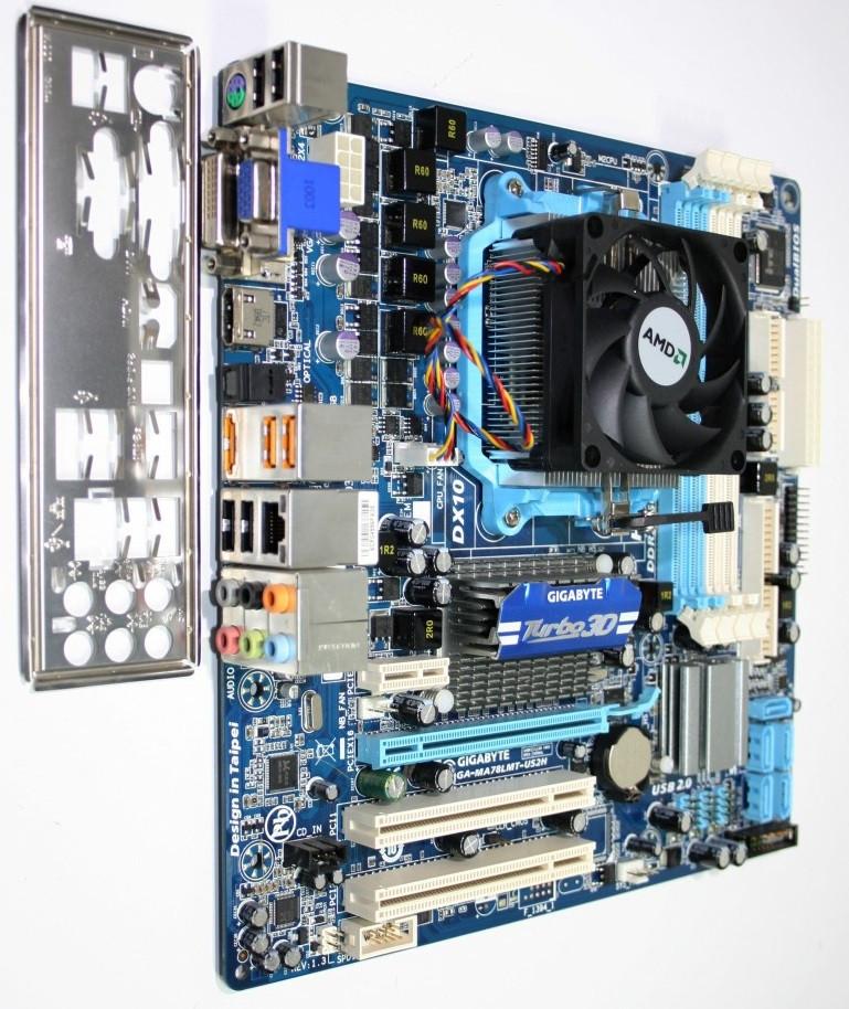 МОЩНЫЙ ИГРОВОЙ 4ех ЯДЕРНЫЙ Комплект AMD на DDR3 -ПРОЦ AMD sAM3+ FX-4100 (4 ЯДРА по 3.7 Ghz)+ Плата Gigabyte