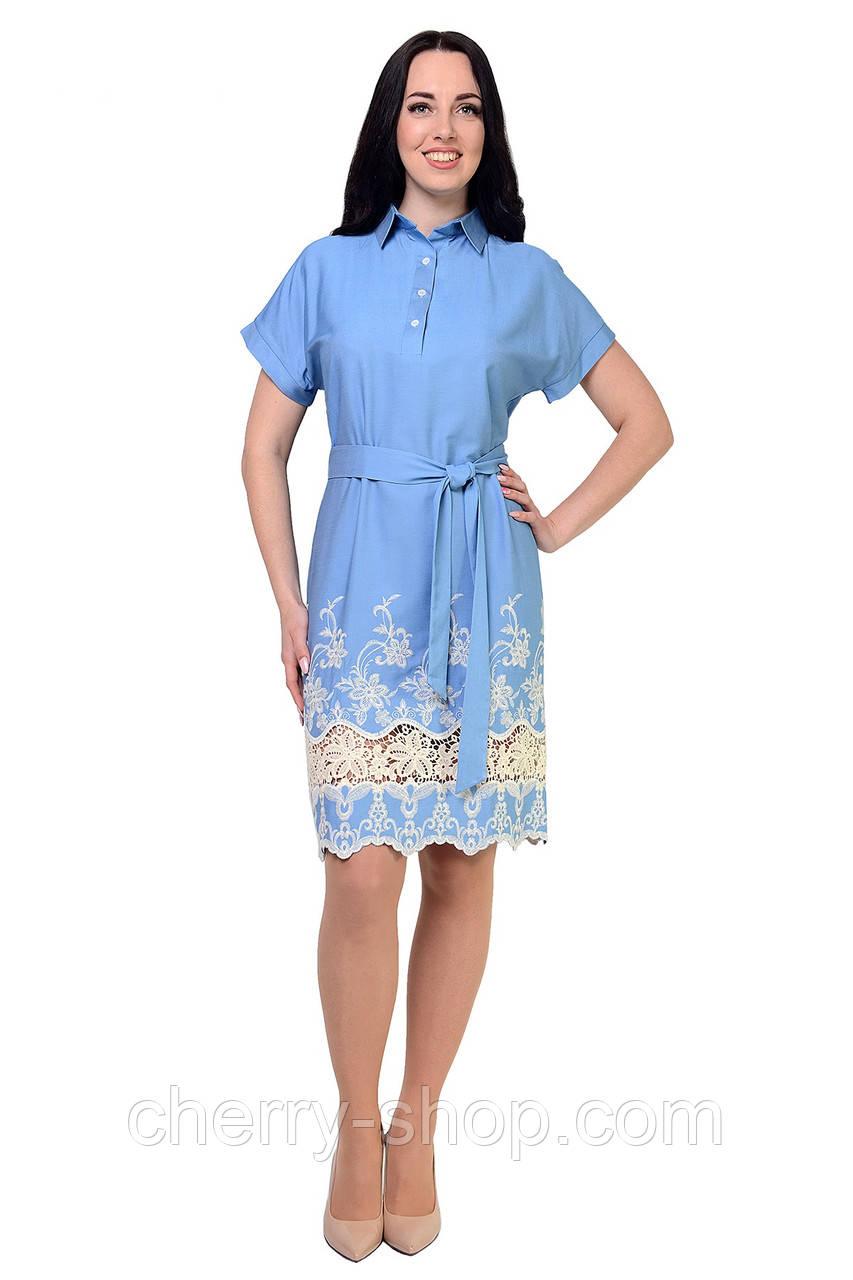 Легкое джинсовое платье-туника