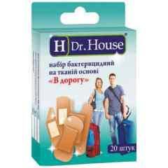 """Лейкопластир """"DR .House"""" ,набір """"в дорогу"""" тканевих №15"""
