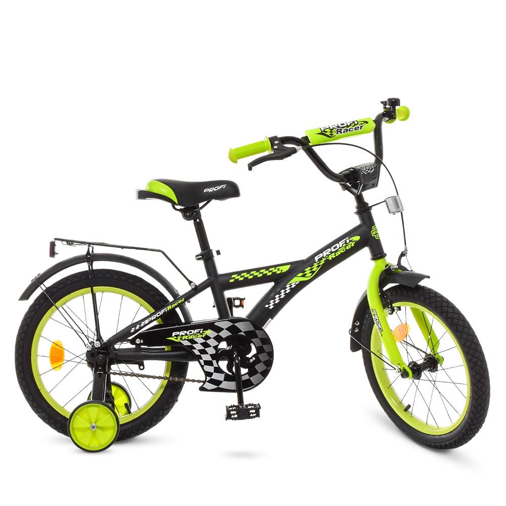 Велосипед детский PROF1 18д. T1837 Черно - салатовый
