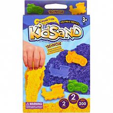 Набір кінетичного піска «KidSand» коробка 200 г, фото 2
