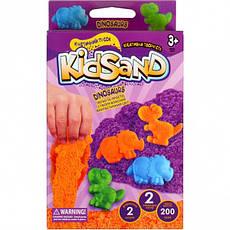 Набір кінетичного піска «KidSand» коробка 200 г, фото 3