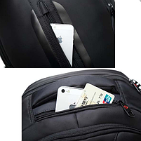 Рюкзак для ноутбука Tigernu T-B3097 черный + Замок в подарок, фото 2